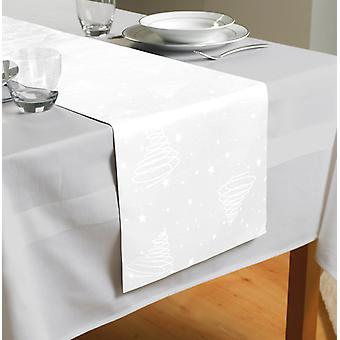Country Club Jacquard sapin Table Runner blanc