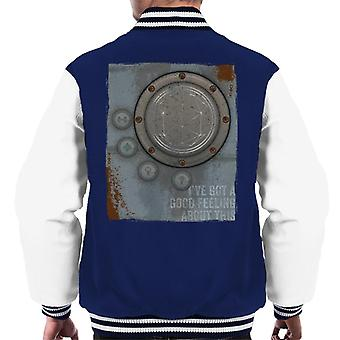 The Crystal Maze Lighter Good Feeling Rust Panel Men's Varsity Jacket