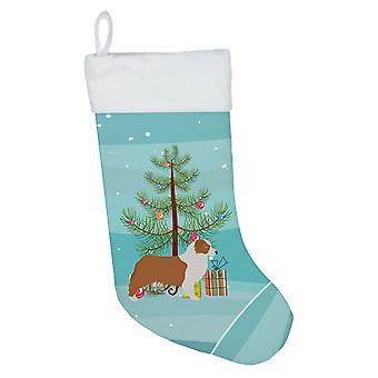 Australian Shepherd Dog Merry Christmas Tree Christmas Stocking