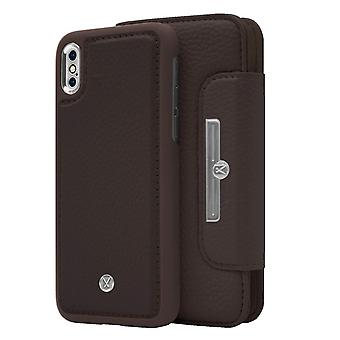 Marvêlle iPhone X/Xs Magnetic Case & Wallet Dark Brown Chic Basic