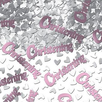 Amscan vaaleanpunainen Confetti - ristiäiset