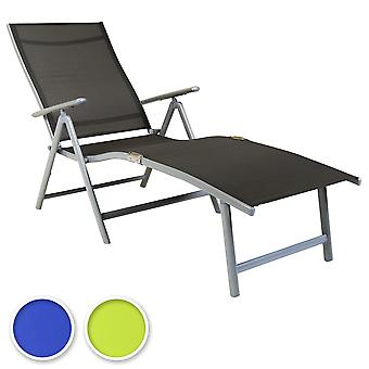 Charles Bentley Faltbare Textilene Sun Lounger 7 Position Space Saving-Fully Assembled-3 Farben