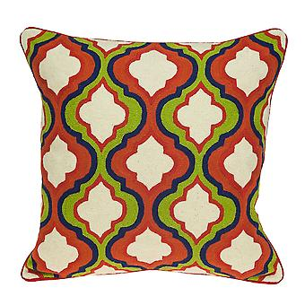 "20"" x 0.5"" x 20"" Handmade Traditional Multicolored Pillow Cover"