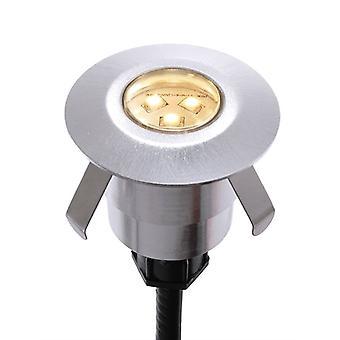 Lampa podłogowa LED wpuszczona Durolight Okrągły zestaw 5000K x 40mm srebrny IP65