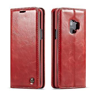 Caso para Samsung Galaxy S9 Portador de cartão vermelho