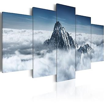 Artgeist Canvas Print A Peak Rising Above The Clouds