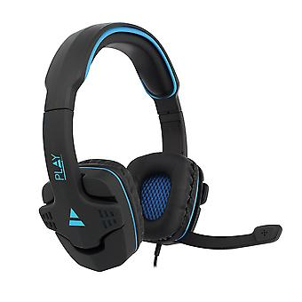 Game headset over øret-med Mic-Egik PL3320-blå