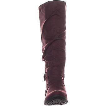 White Mountain Womens Fairfield Fabric Almond Toe Knee High Fashion Boots
