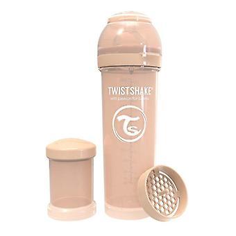 Twistshake Babyfles Antikoliek 330Ml - Pastel Beige