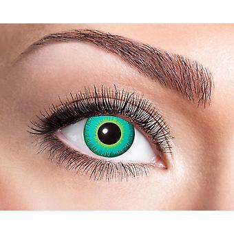 Magia verde mago criaturas míticas de lentes de contacto