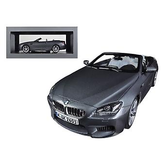 BMW M6 F12M Convertible Space Grey 1/18 Diecast Car Model par Paragon