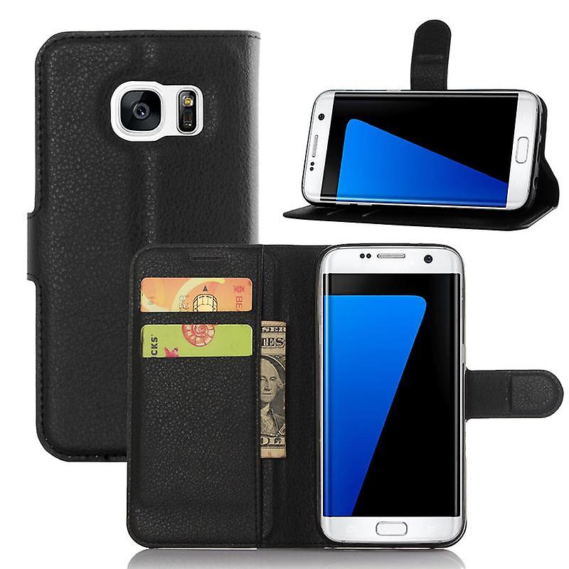 CaseGate phone case case for Samsung Galaxy S7 EDGE case cover - with lock closure, stand function and card compartment