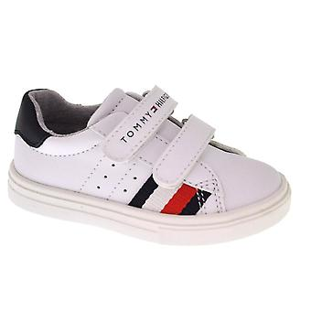 Tommy Hilfiger Boys Tommy Hilfiger Kids Unisex White Velcro Trainers