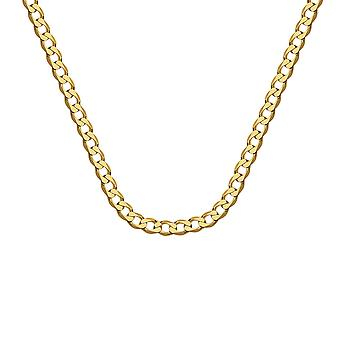 10k Yellow Gold 7.2mm Light Open Curb Chain Necklace Jewelry Gifts for Women - Length: 22 to 30