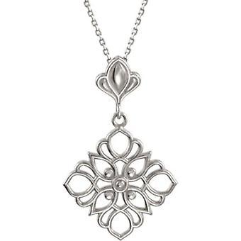 925 Sterling Silber 18 Zoll poliert Edelmetall Mode Halskette Schmuck Geschenke für Frauen