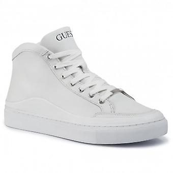 Guess Larry Hi Top Trainers White FM5LRHLEA12