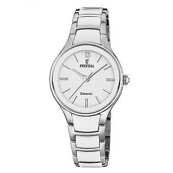 Festina F20474-1 Mujeres's Reloj de pulsera de cerámica de dos tonos