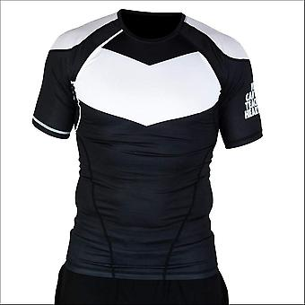 Hyperfly procomp supreme short sleeve rash guard black/white