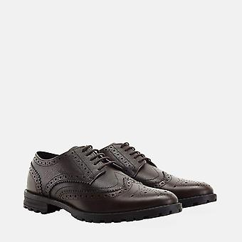 James dark brown brogue