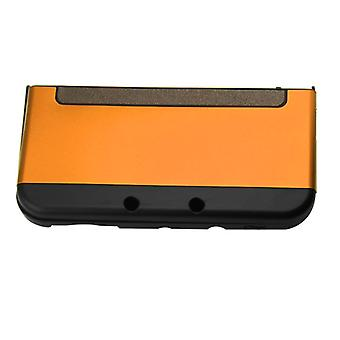 Hybrid case for new 3ds nintendo console protective aluminium cover - orange | zedlabz