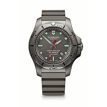 Victorinox I.N.O.X Professional Diver Anti-Magnetism Grey Titanium Mens Watch 241810 45mm