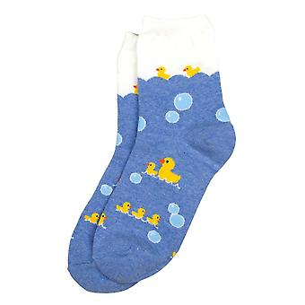 Women's Retro Rubber Duck Novelty Crew Socks
