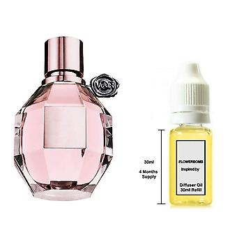 Viktor & Rolf Flower Bomb For Her Inspired Fragrance 30ml Refill Essential Diffuser Oil Burner Scent Diffuser