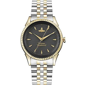 Vivienne Westwood Watches Vv240bkgs Seymour Black Dial, Gold & Silver Stainless Steel Ladies Watch