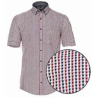 CASA MODA Casa Moda Print Check Short Sleeve Shirt