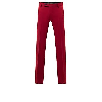 Avail London Mens Chilli Red Suit Trousers Skinny Fit