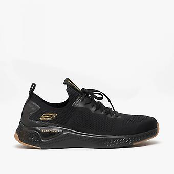 Skechers Solar Fuse-valedge Mens Trainers Black/gold