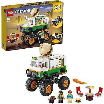 LEGO 31104 Schöpfer 3-in-1 Monster Burger Truck, Off Roader, Traktor Hauler