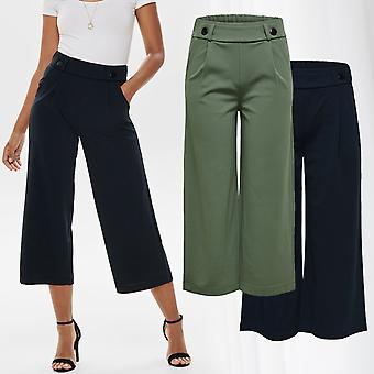 JDY Womens Wide Fit Loose Ankle Pants Trousers Casual Stretch Jacqueline de Yong