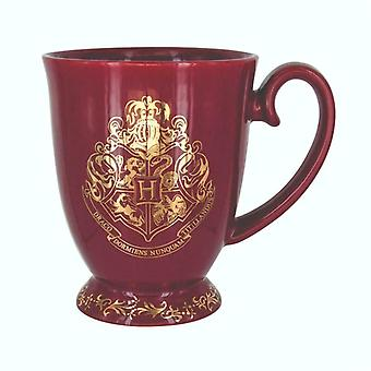 Harry Potter Hogwarts Crest Mug Coffee Tea Cup Burgundy Gold