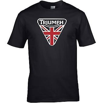 Triumph Union Jack Colour - Motor Biker - DTG Geprint T-shirt