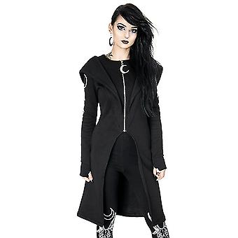 Restyle - split hoodie long, gothic coat with oversized hood