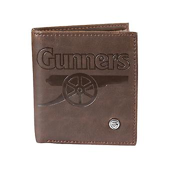 Arsenal FC Official Football Gift Luxury Brown Faux Leather Wallet