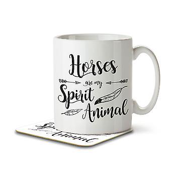 Pferde sind mein Geist Tier - Becher und Untersetzer