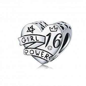 Sterling Silver Charm Girl Power 16 - 6485