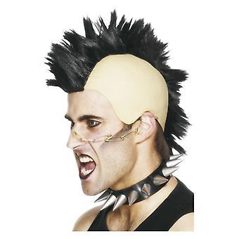 Hombres peluca de mohicano disfraces accesorios