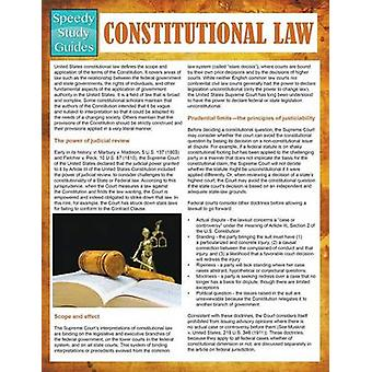 Constitutional Law  Speedy Study Guides by Publishing LLC & Speedy