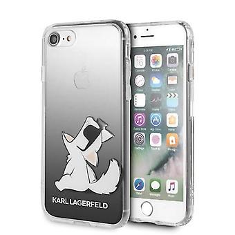 KARL LAGERFELD Fun Choupette Backcover Hoesje iPhone 8 / 7 / SE (2020) - Zwart Transparant