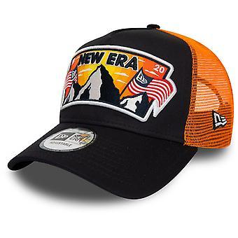 Uusi aikakausi säädettävä Trucker Cap - USA PATCH navy