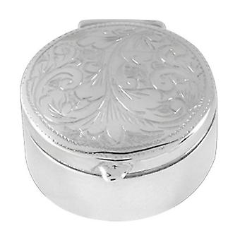 Orton West Engraved Pill Box - Silver