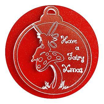 6 Pk キノコ妖精クリスマス クリア アクリルのクリスマスの装飾