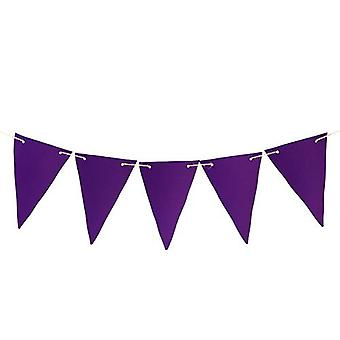 Gardenista® Purple 20ft Water Resistant Fabric Bunting