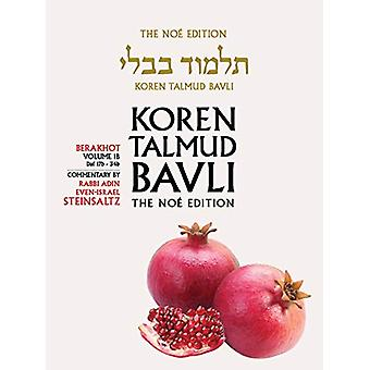 Koren Talmud Bavli - Berkahot Volume 1b - Daf 17b-34b - Noe Color Pb