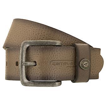 cinturão ativo de cinturão de camelo cinto de couro cinto masculino cowhide cinza encurtado /antracito 2639