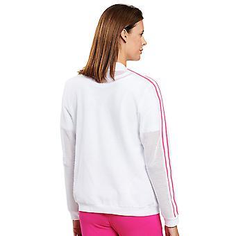 Féraud 3201083-11710 Damen's Casual Chic White Loungewear Jacke Oberteil