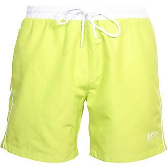 BOSS Meritähti Swim Shortsit, Lime valkoinen kontrasti